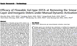 Efficacy of Flowable Geltype EDTA at Removing the Smear Layer and Inorganic Debris under Manual Dynamic Activation
