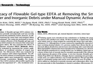 News & Career Efficacy of Flowable Geltype EDTA at Removing the Smear Layer and Inorganic Debris under Manual Dynamic Activation